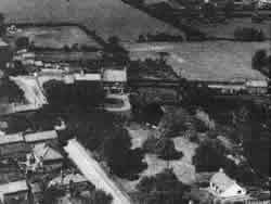 Aerial view of Orchard House