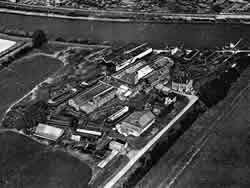 Aerial view of Watson's Shipyard