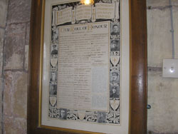 Beckingham Roll of Honour