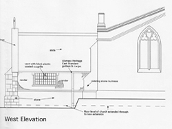 plans of west elevation - click to enlarge