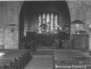 Older view of Nave with oil lamps looking towards the Chancel...