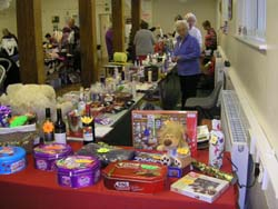Raffle prizes and tombola stall