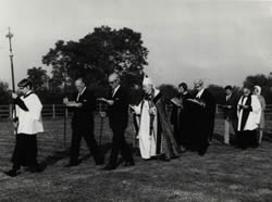 Consecration of Beecher Lane Cemetery 1971