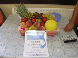 summer fete - hamper of fruit for raffle