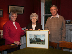 Presentation to Mrs Mason by Tony Thomas and Freda Proudley