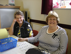 Maureen and Val on the Tombola