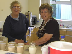Cheerful tea ladies!