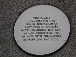 Best Kept Village 1985 Commemorative Plaque