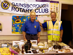 Cliff Williams and Ray Woollard from the Gainsborough branch of Rotary