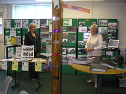 History Group Display with Chair Freda Proudley and Webmistress Maxine Downes