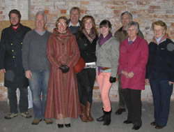 L to R Peter Gale, Alan Gale, Susan Gale, Brian Suart, Amy Gale, Naomi Gale, Tony Thomas, Freda Proudley and Joan Sanger