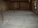 New concrete ground floor