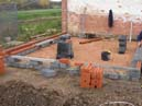 Foundations for new outside toilet block